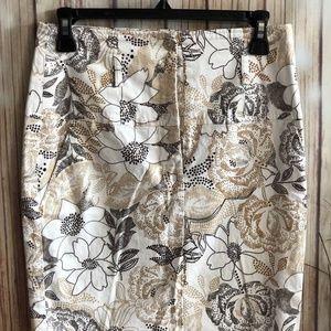 Rampage Skirt Pencil Slit FLORAL SIZE 5